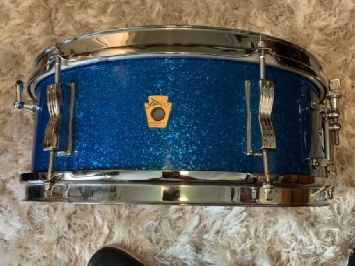 Ludwig 1960s Pioneer Snare 14x5 Blue Sparkle LIKE NEW