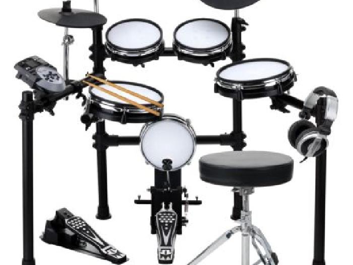 batterie electronique e drum mesh set module 400 sons pads pedales usb midi aux batterie occasion. Black Bedroom Furniture Sets. Home Design Ideas