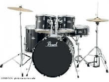 Batterie Pearl Roadshow Rock 22'' 5 fûts - Jet Black