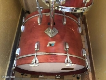 batterie drums ludwig USA vintage 70's red mahogany 24x14 13x9