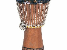 Performance Percussion DJE1 Djembé avec couverture 26 cm Brun
