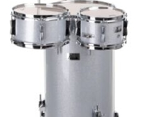 KIT DE BATTERIE COCKTAIL PERCUSSION CLUB DEBOUT COUCHE EN ARGENT RUTILER NEUF
