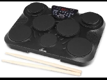 BATTERIE ELECTRONIQUE PAD DE PERCUSSION TAMBOUR DRUM 216 SONORITES USB MIDI NOIR