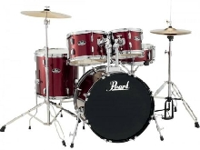 Batterie Pearl Roadshow Fusion 20'' 5 fûts - Red Wine