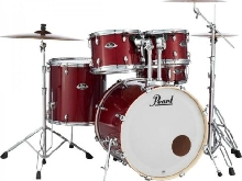 Batterie Pearl Export Laquer Standard 22'' 5 futs Natural Cherry