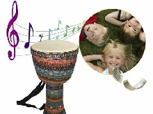 Orff World 8 inch Djembe Percussion Musical Instrument African Style Hand Drum~