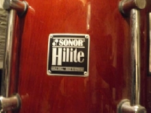 Tom sonor hilite 12. finition rouge. (1990 made in germany)