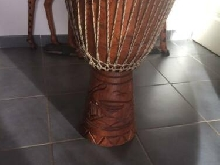 GROSSE DJEMBE bois afrique percussion