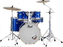 Batterie Pearl Export Standard 22'' High Voltage Blue avec cymbales