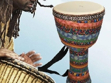 Orff World 8 inch Djembe Percussion Musical Instrument African Style Hand DrDY
